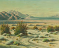 Fine Art - Painting, American, PAUL GRIMM (American, 1891-1974). Desert Sunset. Oil oncanvas. 24 x 30 inches (61.0 x 76.2 cm). Signed lower left:Pa... (Total: 1 Pieces)