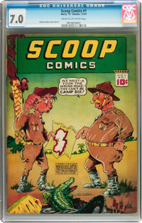 Scoop Comics #1 (Chesler, 1941) CGC FN/VF 7.0 Cream to off-white pages