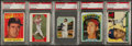 Baseball Cards:Lots, 1950 - 1972 Topps & Bowman Ted Williams PSA Graded Collection(5). ...