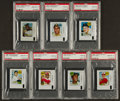 Baseball Cards:Lots, 1969 Topps Decals Baseball HoFers PSA Gem MT 10 Collection (7). ...