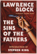 Books:Mystery & Detective Fiction, [Stephen King]. Lawrence Block. SIGNED/LIMITED. The Sins of the Fathers. Arlington Hts.: Dark Harvest, 1992. First edition, ...