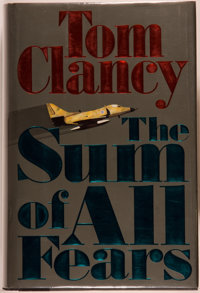 Tom Clancy. SIGNED. The Sum of All Fears. New York: Putnam, [1991]. First edition, first printi