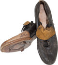 Baseball Collectibles:Others, Bob Turley Game Worn, Signed New York Yankees Cleats....