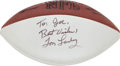 Football Collectibles:Others, Tom Landry Signed Memorabilia Lot of 3....