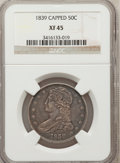 Reeded Edge Half Dollars: , 1839 50C XF45 NGC. NGC Census: (33/272). PCGS Population (72/251).Mintage: 1,392,976. Numismedia Wsl. Price for problem fr...