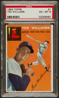 Baseball Cards:Singles (1950-1959), 1954 Topps Ted Williams #1 PSA EX-MT 6....