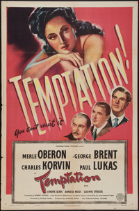 "Temptation (Universal, 1946). One Sheet (27"" X 41""). Thriller"