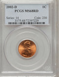 Lincoln Cents, 2002-D 1C MS68 Red PCGS. PCGS Population (687/103). NGC Census:(21/0). Numismedia Wsl. Price for problem free NGC/PCGS co...