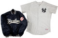 Baseball Collectibles:Uniforms, 2005 Tanyon Sturtze Game Worn, Signed New York Yankees Opening Day Jersey and Game Worn Warm Up Jacket....
