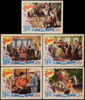 """Movie Posters:Western, The Pal From Texas (Metropolitan, 1939). Lobby Cards (5) (11"""" X 14""""). Western.. ... (Total: 5 Items)"""