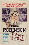 """Movie Posters:Crime, Brother Orchid (Warner Brothers, 1940). One Sheet (27"""" X 41"""").Crime.. ..."""