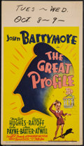 "Movie Posters:Comedy, The Great Profile (20th Century Fox, 1940). Midget Window Card (8"" X 14""). Comedy.. ..."