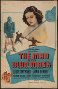 "Movie Posters:Adventure, The Man in the Iron Mask (PRC, R-1947). One Sheet (26"" X 40"").Adventure.. ..."