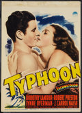 "Movie Posters:Adventure, Typhoon & Other Lot (Paramount, 1940). Midget Window Card (8"" X11.25"") & Lobby Cards (2) (11"" X 14""). Adventure.. ... (Total:3 Items)"