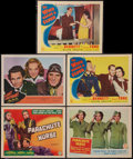 "Movie Posters:Adventure, Aviation Lot (Columbia, 1942). Title Lobby Card & Lobby Cards(4) (11"" X 14""). Adventure.. ... (Total: 5 Items)"