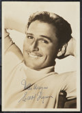 """Movie Posters:Miscellaneous, Errol Flynn (Late 1930s - Early 1940s). Autographed Portrait Photo (5"""" X 7""""). Miscellaneous.. ..."""