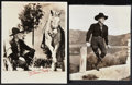 "Movie Posters:Western, Hopalong Cassidy Lot (Paramount, 1940s). Autographed Portrait Photo (8"" X 10"") & Portrait Photo (7.5"" X 9""). Western.. ... (Total: 2 Items)"