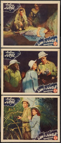 "Movie Posters:Adventure, Law of the Jungle (Monogram, 1942). Lobby Cards (3) (11"" X 14"").Adventure.. ... (Total: 3 Items)"