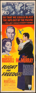 "Movie Posters:Drama, Flight for Freedom (RKO, 1943). Insert (14"" X 36""). Drama.. ..."