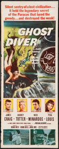 "Movie Posters:Adventure, Ghost Diver (20th Century Fox, 1957). Insert (14"" X 36"").Adventure.. ..."