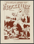 """Movie Posters:Action, The Rocketeer (Pacific Comics, 1982). Autographed Art Print (8.5"""" X 11""""). Action.. ..."""