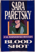 Books:Mystery & Detective Fiction, Sara Paretsky. SIGNED. Blood Shot. [New York]: DelacortePress, [1988]. First edition, first printing. Signed by P...