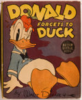 Books:Children's Books, [Big Little Book]. Walt Disney. Donald Forgets to Duck.Racine: Whitman, [1939]. Square sixteenmo. 424 pages. Publis...