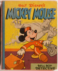 Books:Children's Books, [Big Little Book]. Walt Disney. Mickey Mouse: BellboyDetective. Racine: Whitman, 1945. Square sixteenmo. 346pages....