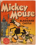 Books:Children's Books, [Big Little Book]. Walt Disney. Mickey Mouse in BlaggardCastle. Racine: Whitman, [1934]. Square sixteenmo. 314 page...