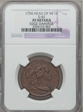 Large Cents, 1794 1C Head of 1794 -- Edge Damage -- NGC Details. XF. S-42, B-29,R.4....