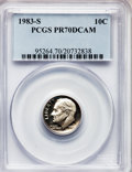 Proof Roosevelt Dimes: , 1983-S 10C PR70 Deep Cameo PCGS. PCGS Population (132). NGC Census:(125). Numismedia Wsl. Price for problem free NGC/PCGS...