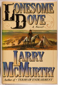 Books:Fiction, Larry McMurtry. INSCRIBED. Lonesome Dove. New York: Simonand Schuster, [1985]. First edition, first printing. ...