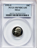 Proof Roosevelt Dimes: , 1992-S 10C Silver PR70 Deep Cameo PCGS. PCGS Population (185). NGCCensus: (0). Numismedia Wsl. Price for problem free NGC...