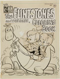 Original Comic Art:Covers, Tony Tallarico The Flintstones and Pebbles Coloring BookCover Original Art (Charlton/Hanna-Barbera, 1971)....