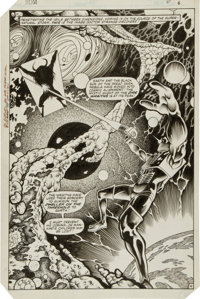 Sal Buscema, Ian Akin and Brian Garvey ROM #41 Splash Page 4 Original Art (Marvel, 1983)