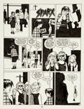Original Comic Art:Panel Pages, Jaime Hernandez Love and Rockets #20 Page 7 Original Art(Fantagraphics, 1990)....