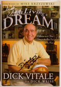 Books:Biography & Memoir, [Basketball]. Dick Vitale. SIGNED. Dick Vitale's Living aDream. [Champaign]: Sport Publishing, [2003]. First editio...