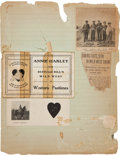 Miscellaneous:Ephemera, Annie Oakley: A Page from the Old Family Scrapbook. ...