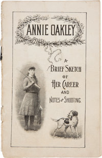 Annie Oakley: An Early Biographical Booklet