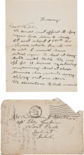 Autographs:Celebrities, Annie Oakley: Important Autograph Letter Signed, to herBrother-in-law William Butler....
