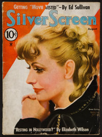 "Silver Screen (Screenland, August 1935). Magazine (76 Pages, 8.5"" x 11.5""). Miscellaneous"