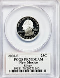 Proof Statehood Quarters, 2008-S 25C New Mexico Silver PR70 Deep Cameo PCGS. PCGS Population(331). NGC Census: (0). Numismedia Wsl. Price for probl...