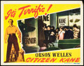 "Movie Posters:Drama, Citizen Kane (RKO, 1941). Lobby Card (11"" X 14""). Drama.. ..."