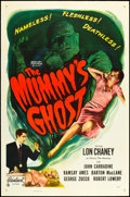 "Movie Posters:Horror, The Mummy's Ghost (Realart, R-1953). One Sheet (27"" X 41"").Horror.. ..."