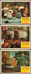 """Movie Posters:Comedy, The Great Dictator (United Artists, 1940). Lobby Cards (3) (11"""" X14""""). Comedy.. ... (Total: 3 Items)"""