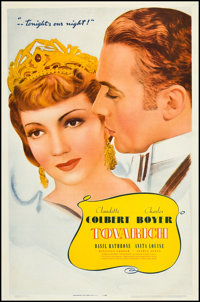 """Tovarich (Warner Brothers, 1937). One Sheet (27"""" X 41""""). Comedy"""