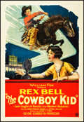 "Movie Posters:Western, The Cowboy Kid (Fox, 1928). One Sheet (27"" X 41""). Western.. ..."