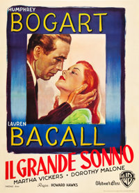 "The Big Sleep (Warner Brothers, 1946). Italian 2 - Foglio (39"" X 55"")"