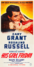"""Movie Posters:Comedy, His Girl Friday (Columbia, 1940). Three Sheet (41"""" X 81"""").. ..."""