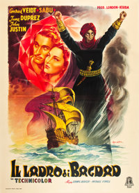 "The Thief of Bagdad (Minerva, 1946). First Post War Italian 4 - Foglio (55"" X 78"")"